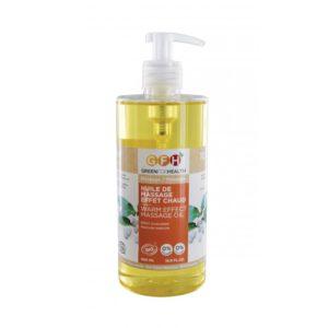 huile de massage effet chaud