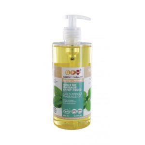 huile de massage effet froid